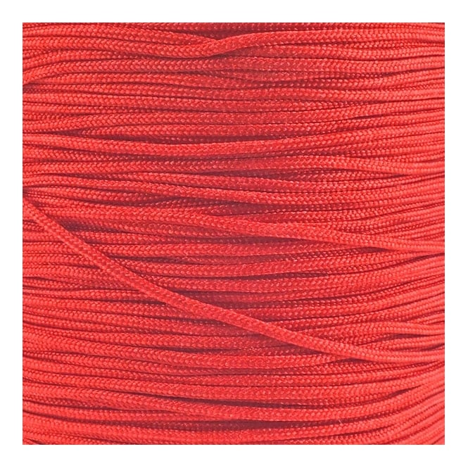 1.5mm Shamballa/Chinese Knotting Nylon Cord - Red - 5m