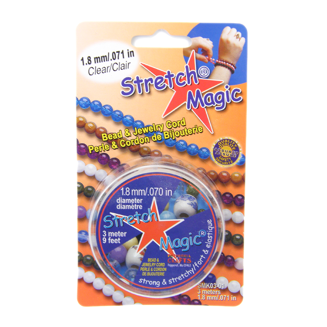 1.8mm Stretch Magic Elastic Beading Cord - Clear - 3 metres