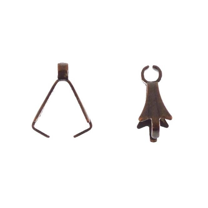 10mm Bail and Loop - Antique Copper Plated - 20pk