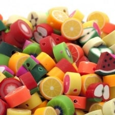 10mm Fimo Fruit Beads Mix - 10pk