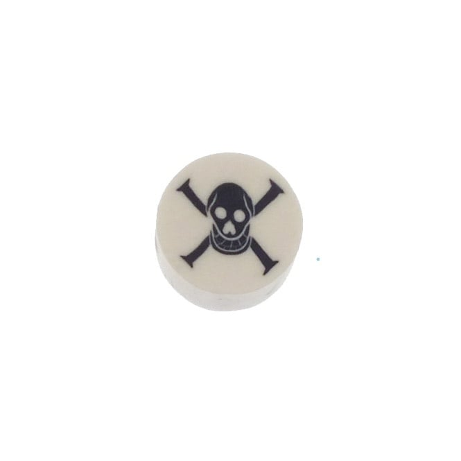 10mm Fimo Skull and Crossbones Bead - 20pk