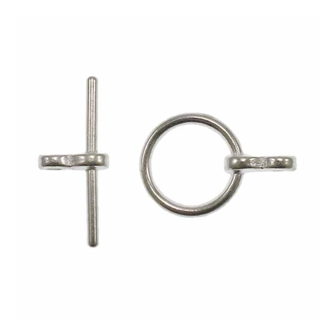 10mm Round Toggle Clasp - Silver Plated - 10pk