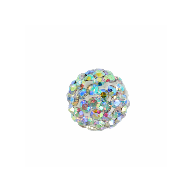 10mm Shamballa Beads - Crystal AB - 2pk