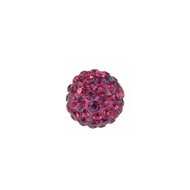 10mm Shamballa Beads - Fuchsia - 2pk