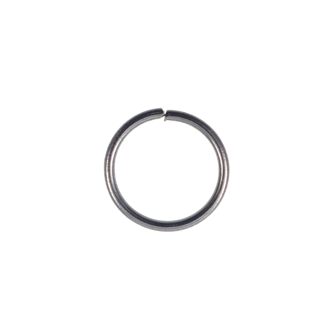 10mm Thick Jump Rings (1.2mm) - Black Plated - 100pk