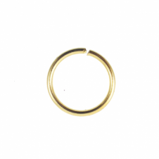 10mm Thick Jump Rings (1.2mm) - Gold Plated - 100pk