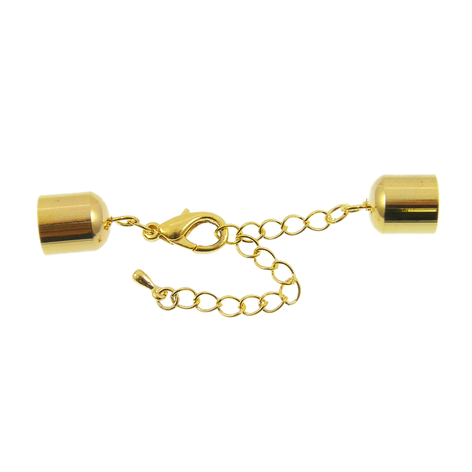 10x11mm Bell Closers With Extension Chain - Gold Plated - 1pk