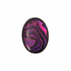 10x8mm Abalone Red Flat Shell Cabochon - 1pc