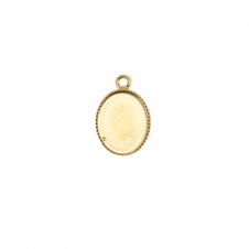 10x8mm Pendant Cameo Mount - 2 - Gold Plated