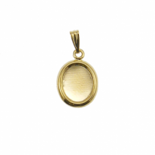 10x8mm Pendant Cameo Mount - Gold Plated