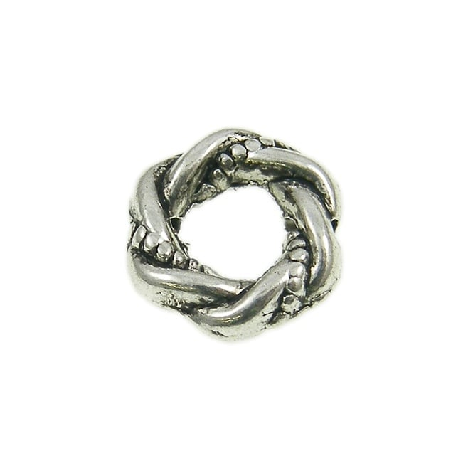 11mm Twisted Wreath Spacer Bead - Antique Silver Plated - 20pk