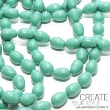11x8mm Swarovski Pear Shaped Pearl Beads - Crystal Jade