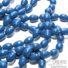 11x8mm Swarovski Pear Shaped Pearl Beads - Crystal Lapis