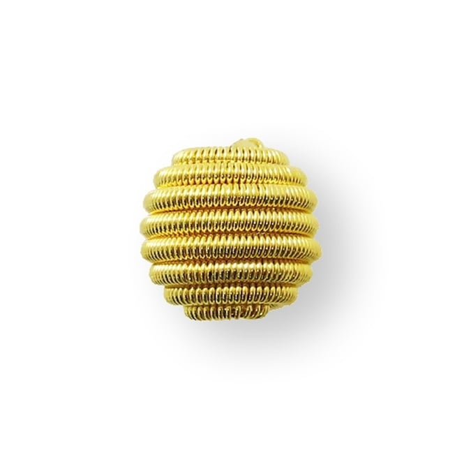 12mm Coil Wire Bead - Gold Plated