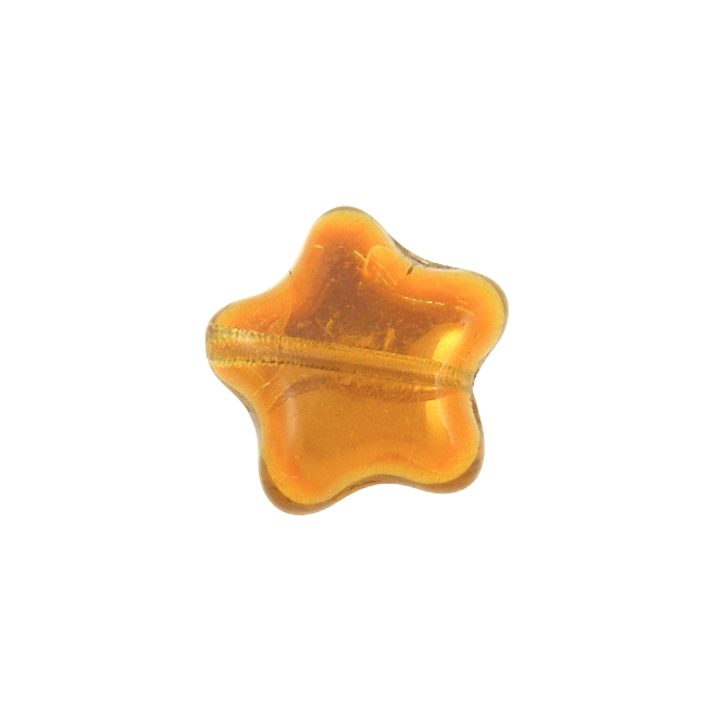 12mm Czech Glass Star Bead - Peach AB - 5pk