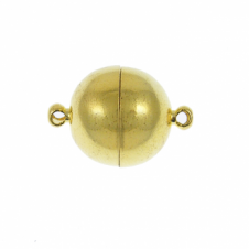 12mm Magnetic Round Clasp - Gold Plated - 1pk