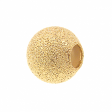 12mm Stardust Beads - Gold Plated - 1pk