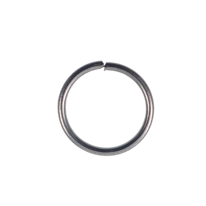 12mm Thick Jump Rings (1.2mm) - Black Plated - 50pk