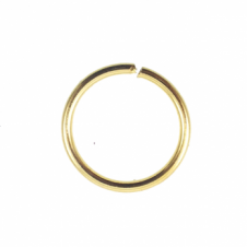 12mm Thick Jump Rings (1.2mm) - Gold Plated - 50pk
