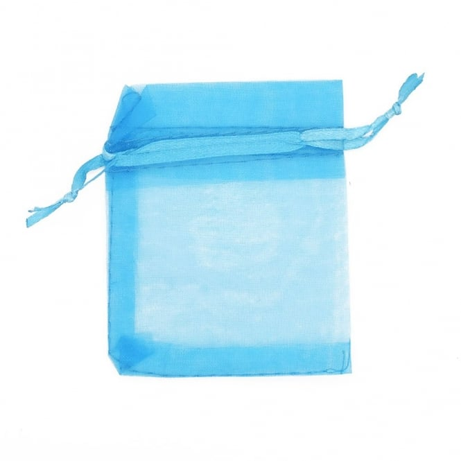 12x22cm Organza Gift Bags - Turquoise - 25pk