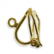 13mm Earclip Findings - Gold Plated - 2pk