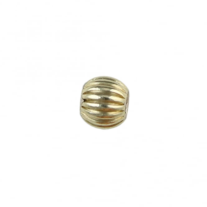 14k Gold Filled - 4mm Round/Corrugated Bead - 5pcs