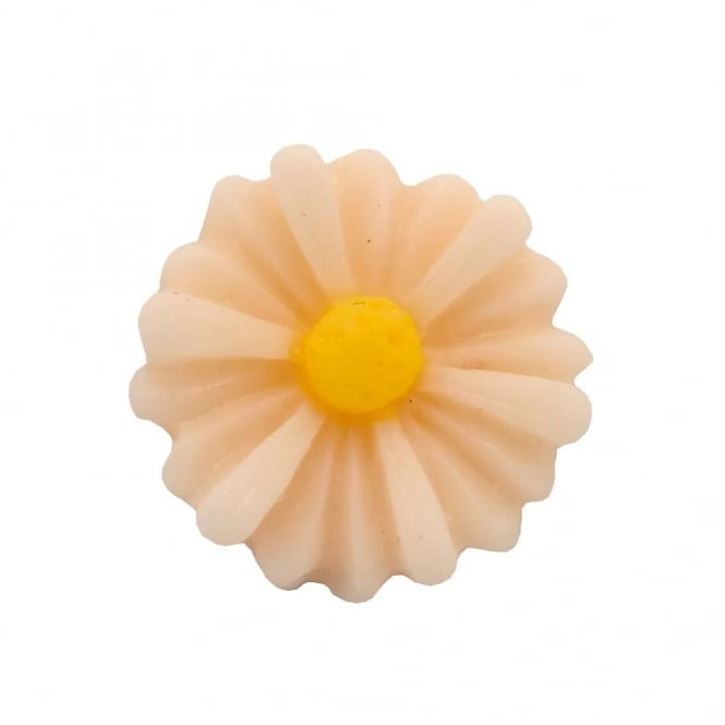 14mm Sunflower Resin Cabochon - Light Peach - 10pk