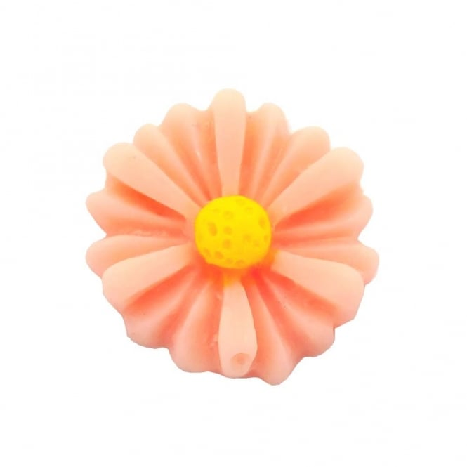 14mm Sunflower Resin Cabochon - Peach - 10pk