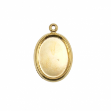14x10mm Pendant Cameo Mount - Gold Plated