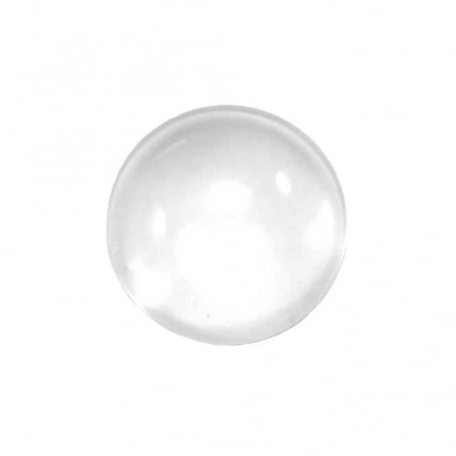 15.5mm Round Glass Cabochons - Transparent - 10pk