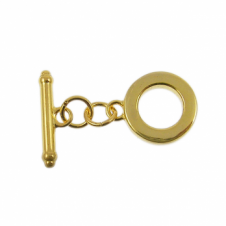 15mm Chunky Toggle Findings - Gold Plated - 1pk