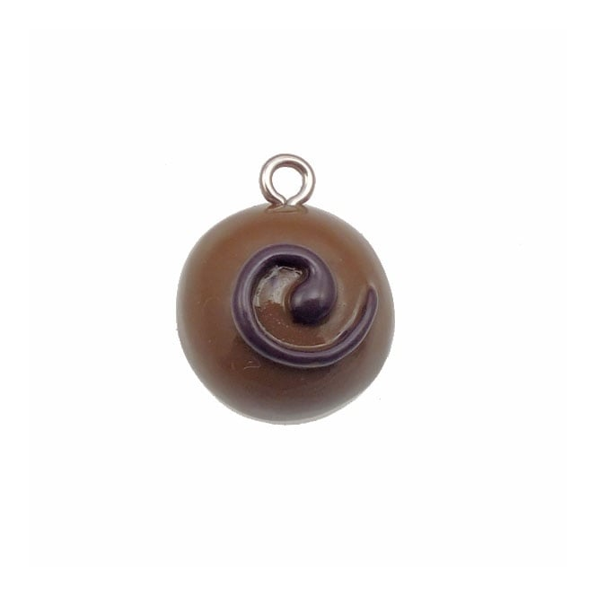 15mm Resin Candy Charm - Chocolate Swirl