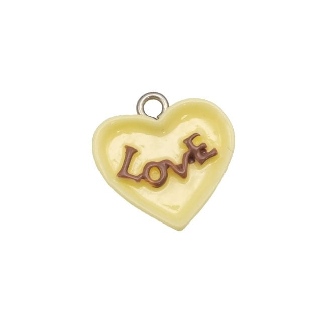 15mm Resin Candy Charm - Love Heart