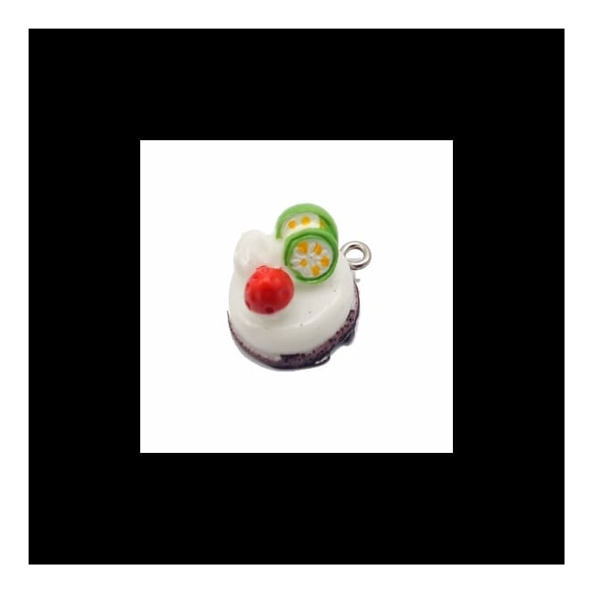 15mm Resin Flan Charm - White