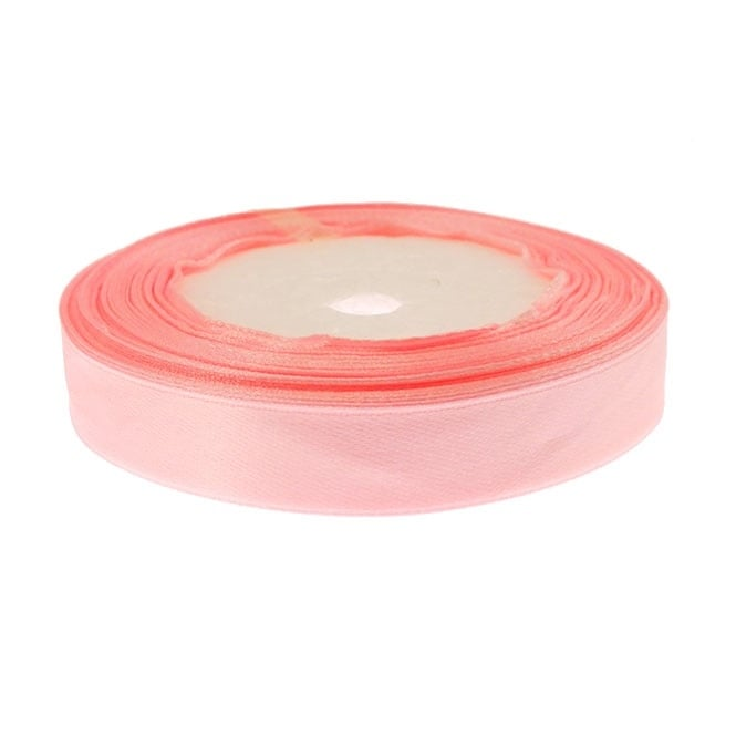15mm Satin Ribbon - Baby Pink - 22m Roll