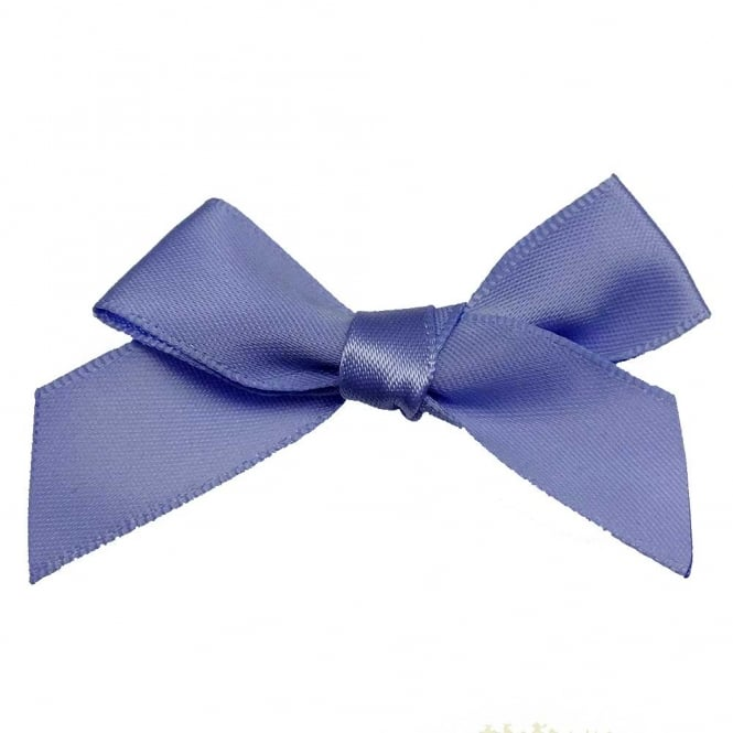 15mm Satin Ribbon Bows - Lupin - 10pk