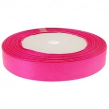 15mm Satin Ribbon - Bright Pink - 22m Roll