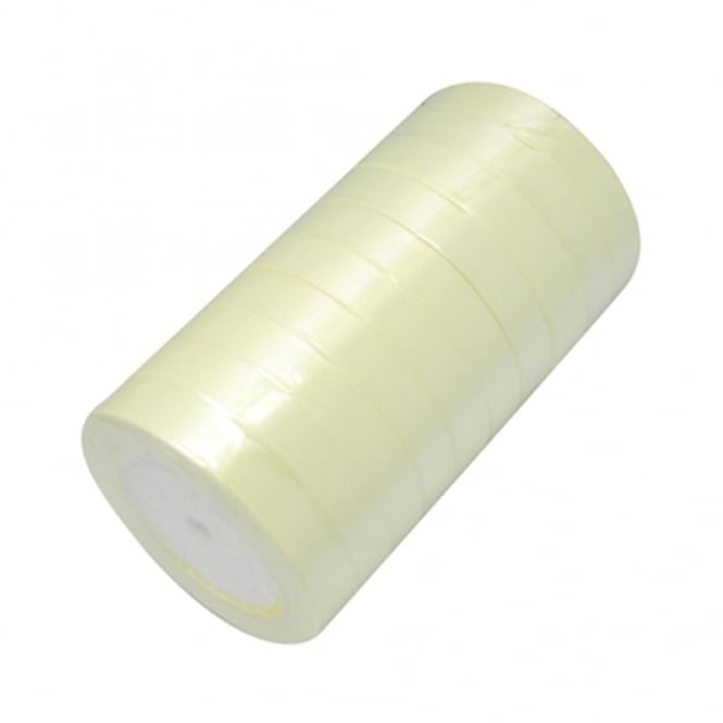 15mm Satin Ribbon - Lemon - 22m Roll