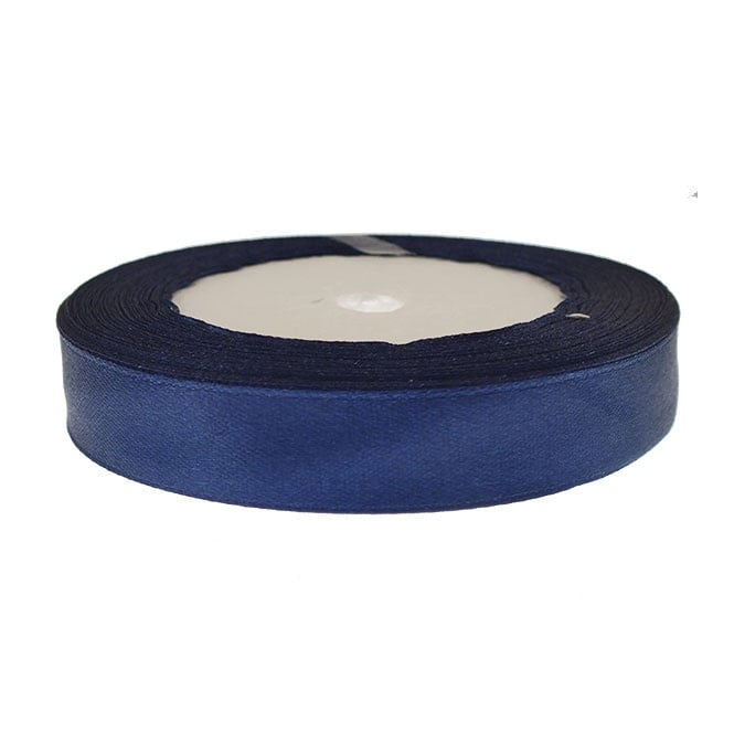 15mm Satin Ribbon - Midnight Blue - 22m Roll