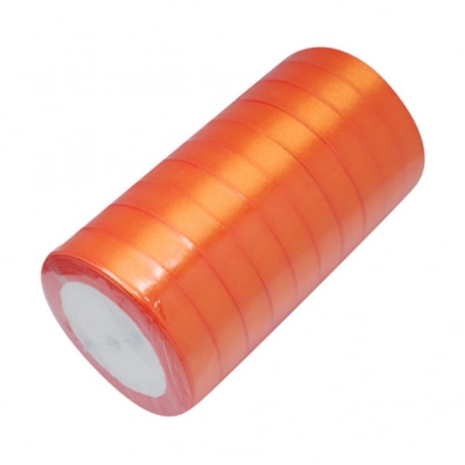 15mm Satin Ribbon - Orange - 22m Roll