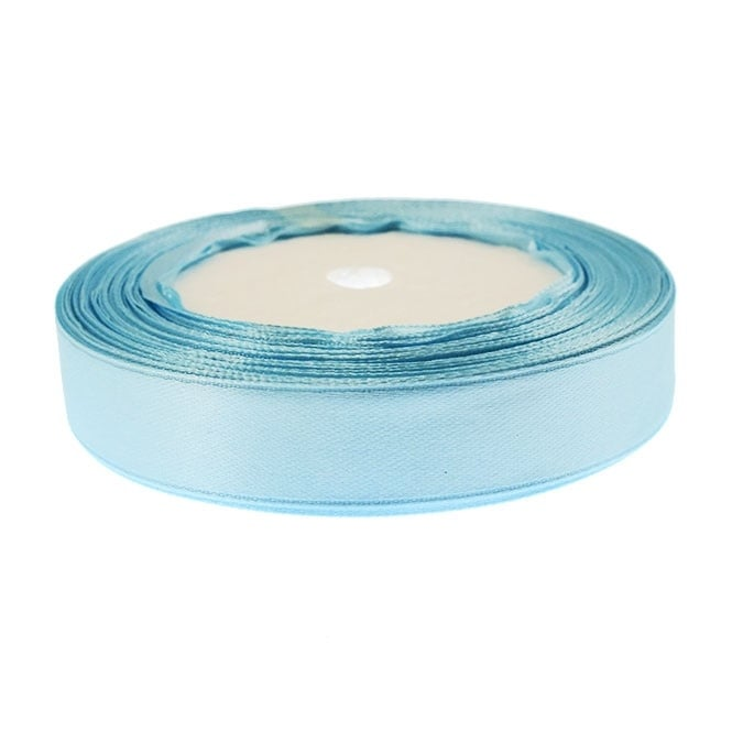 15mm Satin Ribbon - Pale Blue - 22m Roll