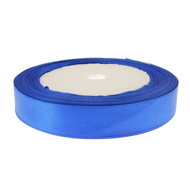 15mm Satin Ribbon - Royal Blue - 22m Roll