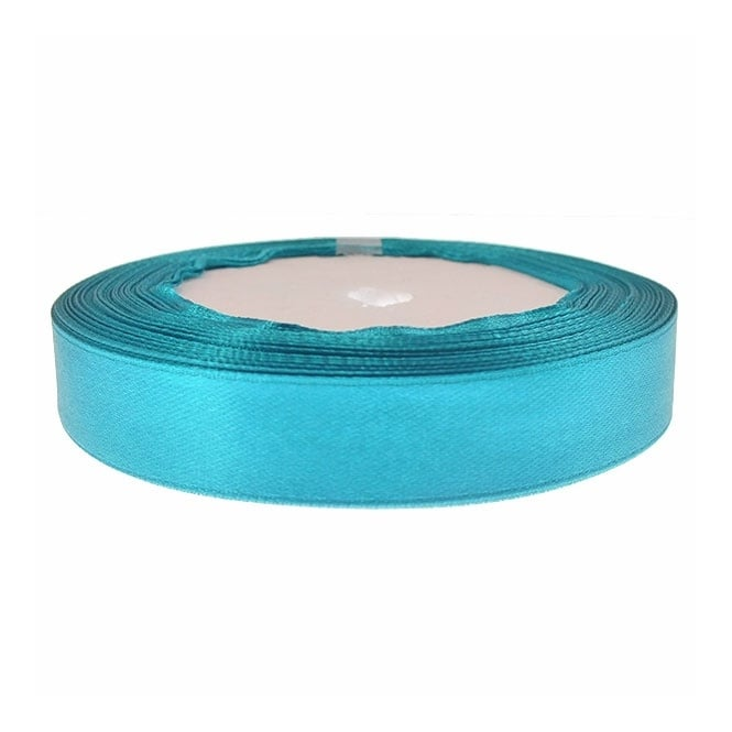 15mm Satin Ribbon - Teal - 22m Roll
