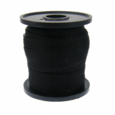 15mm Wide Knitted Copper Wire Mesh Tube - Black - 1 Metre