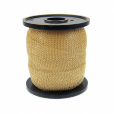 15mm Wide Knitted Copper Wire Mesh Tube - Champagne - 1 Metre