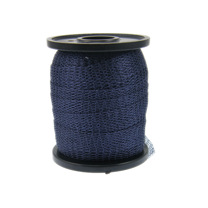 15mm Wide Knitted Copper Wire Mesh Tube - Dark Blue - 1 Metre