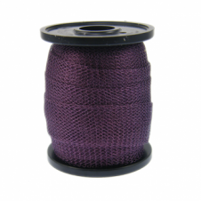 15mm Wide Knitted Copper Wire Mesh Tube - Dark Purple - 1 Metre