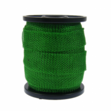15mm Wide Knitted Copper Wire Mesh Tube - Emerald - 1 Metre