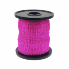 15mm Wide Knitted Copper Wire Mesh Tube - Hot Pink - 1 Metre