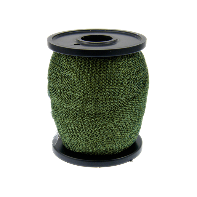 15mm Wide Knitted Copper Wire Mesh Tube - Leaf Green - 1 Metre